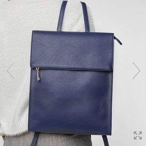 Navy Backpack Vegan Leather Summer and Rose NWT